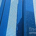 Business Skyscrapers Modern Architecture In Blue Tint by Michal Bednarek