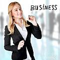 Business Woman In The Office by Anna Om