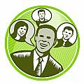 Businessman People Smiling Speech Bubble by Aloysius Patrimonio