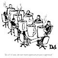 Businessmen Sit Around Conference Table by Drew Dernavich