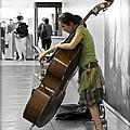 Busking Parisian Cellist by Maj Seda
