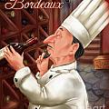 Busy Chef With Bordeaux by Shari Warren