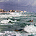 Busy Day In The Surf by Deborah Benoit