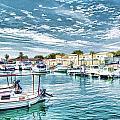 Busy Marina by John Lynch