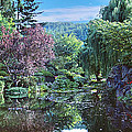 Butchart Gardens Is A Group Of Floral Display Gardens British Columbia Canada 3 by David Zanzinger