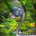 Butchart Gardens Stairs by Inge Johnsson