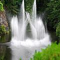 Butchart Gardens Waterfalls by Lisa Phillips
