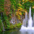 Butchart Waterfall And Fountain-- by Brian Hoover