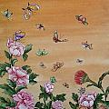 Butterflies And Flowers by Nicola Mountney