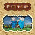 Butterflies Button by Mike Savad