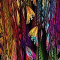 Butterflies On The Curtain by Klara Acel