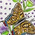 Butterfly And Thistles by Kathy Marrs Chandler