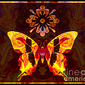 Butterfly By Design Abstract Symbols Artwork by Omaste Witkowski