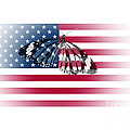 Butterfly Embedded With Usa National Flag by Image World
