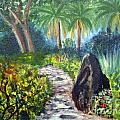 Butterfly Garden At Gumbo Limbo by Donna Walsh