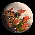 Butterfly In A Globe by Phyllis Denton