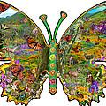 Butterfly Meadow Green by Alixandra Mullins