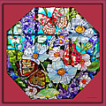 Butterfly Octagon Stained Glass Window by Thomas Woolworth