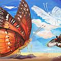 Butterfly Paysage 2 by Art Ina Pavelescu