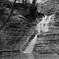 Buttermilk Falls Black And White by Clint Buhler