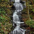 Buttermilk Falls In Autumn by Stephen  Vecchiotti