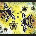 Buzy Bees And Daisies by Danielle  Parent