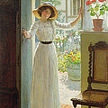 By The Cottage Door by William Henry Margetson