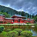 Byodo Temple by Les Lorek
