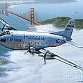 C-124 Shakey Over The Golden Gate by Stu Shepherd