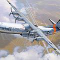 C-133 Cargomaster Over Travis by Stu Shepherd