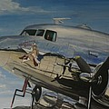 C47b Skytrain Bluebonnet Belle  Warbird 1944 by Richard John Holden RA
