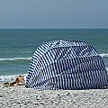 Cabana And Surf by Gerald Marella