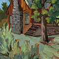 Cabin At Big Bear Lake by Diane McClary