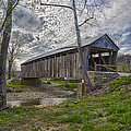 Cabin Creek Covered Bridge by Jack R Perry