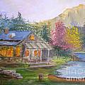Cabin Home by Julie  Metzler