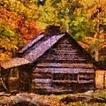 Cabin In Autumn by Dan Sproul