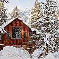 Cabin In Snow by Scott Pellegrin