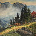 Cabin In The Alps by Kenneth LePoidevin