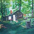 Cabin In The Woods by Catherine Swerediuk