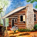 Cabin In The Woods by Janis  Tafoya