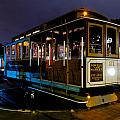 Cable Car At Night by Bradley Bennett