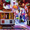 Cable Car At The Powell Street Turnaround by Bill Gallagher