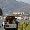 Cable Car Going Down A Steep San Francisco Hill by Scott Lenhart