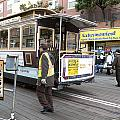 Cable Car Turn Around Fisherman's Wharf by Christopher Winkler