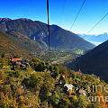 Cableway Over The Mountain by Mats Silvan
