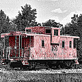 Caboose At Rest by Bonnie Willis