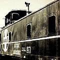 Caboose - Bw - Vintage by Pamela Critchlow