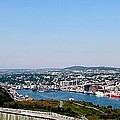 Cabot Tower Overlooking The Port City Of St. John's by Barbara Griffin