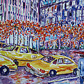 Cabs New York by Lucille Femine