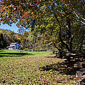 Cades Cove House And Fall Colors by Kathy Clark